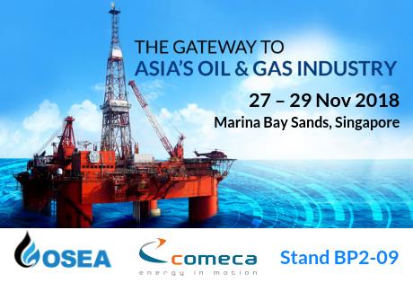 COMECA au salon pétrolier OSEA 2018 de Singapour
