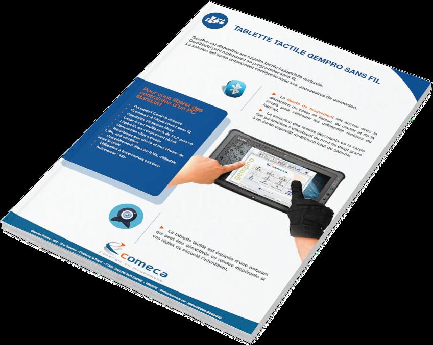 Brochure tablette tactile Gempro Comeca