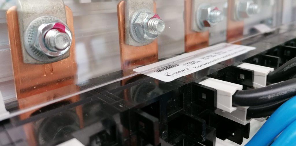 raccordement jeux de barre cuivre répartiteur COMECLIC