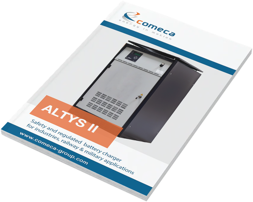 Brochure ALTYS battery charger by Comeca