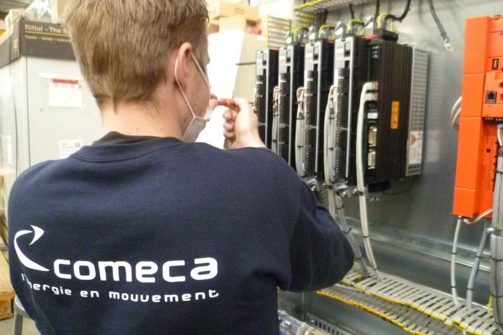 Cablage armoire électrique de contrôle commande COMECA