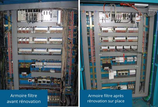 Référence comeca Rénovation d'une station d'eau potable rénovation armoire électrique filtre